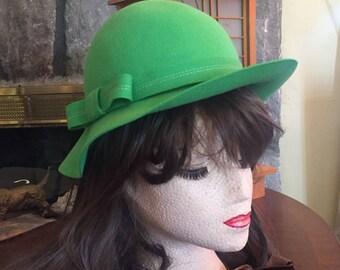 Vintage Doeskin Felted Wool Hat