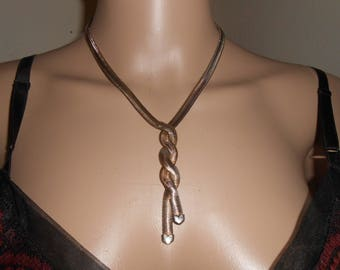 Vintage Twisted Serpentine Chain Necklace