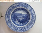"Baltimore And Ohio Railroad Vintage Blue & White Lamberton China 7"" Soup Bowl Circa 1930's"