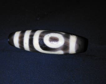 Ancient two-eye Dzi Bead