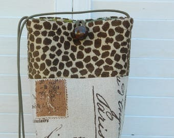 Sophisticated Animal Print and Script Pouch....