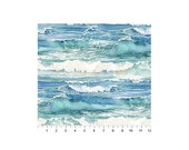 Memorial Day Sale Shore Thing~Ocean Water Cotton Fabric By Northcott