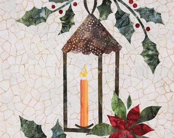 Seasonal Silhouettes Block 12 Laser Cut Fusible Applique Kit With Background, Sewing Kit~ Fast Shipping K296