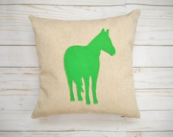 Custom Horse Pillow - Equestrian Decor - Gift for Horse Lover