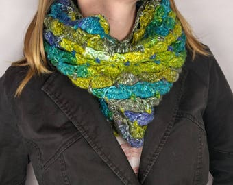 Crocheted Shell Cowl - Color Options Available
