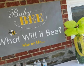 1 Left What Will It Bee Sign Banner