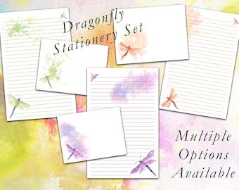 Dragonfly Stationery Set