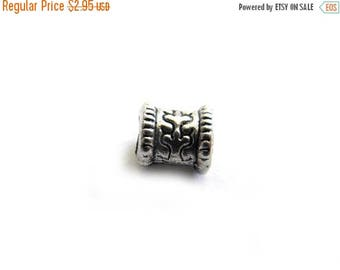 HALF PRICE 10 Silver Tube Spacer Beads 6mm Large Hole