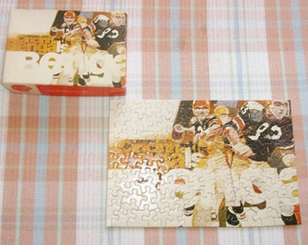 Springbok Cincinnati Bengals Football Puzzle 1971 Vintage NFL 115 Piece NFL Bengals Jigsaw Puzzle 200PZL4519