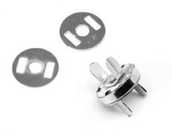 5 magnetic clasp silver 18 mm
