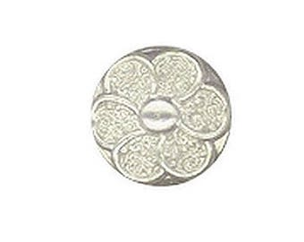6 buttons mother of Pearl flower 13 mm with loop