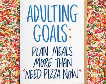 Need Pizza Now. Funny Anniversary Card. Cards for Best Friends. Just Because Card. Birthday Card. Food Card. Adulting Card. Adult Life Card