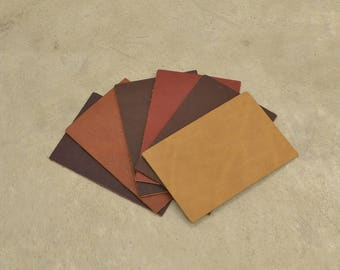 "Oil Tan Sample Pack 4"" x 6"" Leather Cow Hide 3-6 ounces grainy JA-57410 (Sec. 1,Shelf 2,C)"