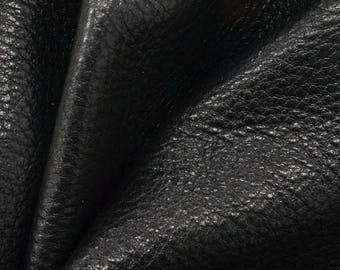 "NZ Deer Sale Mountain Coal Black Leather New Zealand Deer Hide 8""x 10"" Pre-cut 3-4 ounces-16 DE-66127 (Sec. 4,Shelf 2,B)"