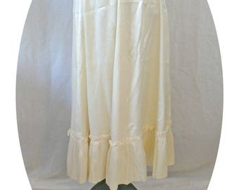 Jessica's Gunnies Cream Maxi Skirt - 80s Vintage - Size XS/S
