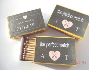 Matchbox Wedding Favours