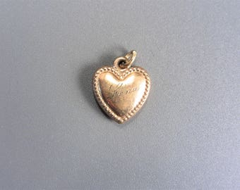 Vintage Antique Heart Charm Estate Jewelry