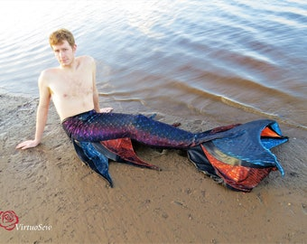 Discounted price, Merman tail, mermaid tail, monofin, walkable mermaid tail, swimmable mermaid tail, fabric mermaid tail, mermaid costume