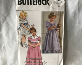 D017 Butterick 3087 girls dress size 2  uncut