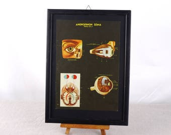 Human Eye Anatomy Poster, Ophthalmology Print, Ophthalmology Poster, Human Anatomy Poster, Eye Anatomy Poster, Optician Poster, Eye Poster