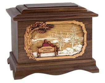 Walnut Soulmates Ambassador Wood Cremation Urn
