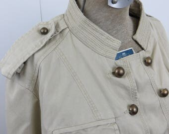 Retro Circa 1960's Seargent Peppers Style Jacket Military Style Jacket with Epaulets Womens Ladies Coat