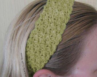 Green Crochet Headband, Crochet headband, colourful crochet headband, hair accessories, girls accessories, crochet girls headband