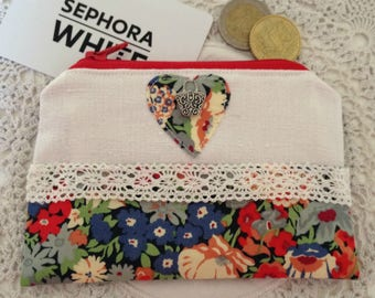 Liberty Fabric Coin Purse, Liberty Zip Purse, Small Zip Purse, Money Pouch, Small Change Purse, Fabric Purse, Girls Gift, Gift Ideas for Her