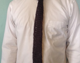 Gray Crochet Tie