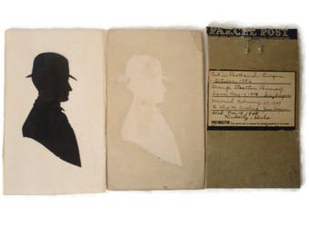 Antique Male Silhouette 1886 Hand Cut Paper