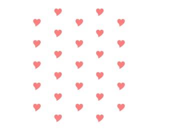 "Heart Cookie Stencil, Heart Pattern Stencil, 5.5"" x 5.5"", Wedding Stencil, Heart Fondant Cookies, Heart Sugar Cookies, Heart Cake Stencil"