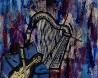 Art Photos - Music - Mixed Media Collage