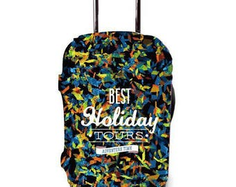Luckiplus Luggage Cover Travel Suitcase Protective Cover Fits 18-32 Inch Luggage