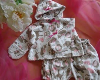 Baby, newborn, 0-3 months onesie mid-leg and jacket.