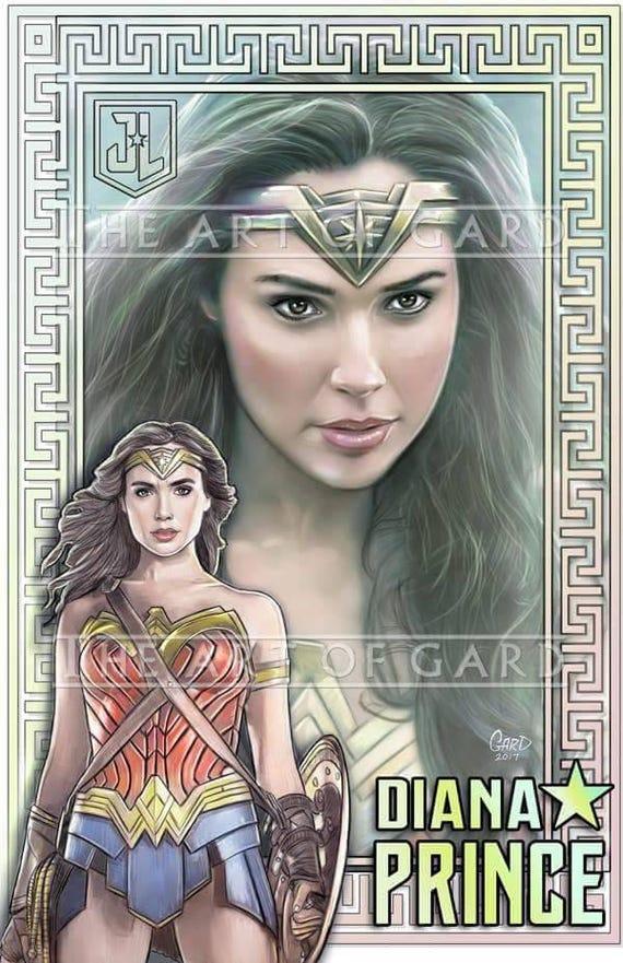 Wonder Woman Justice League 11X17 Art Print