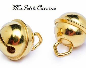 Set of 2 bells gold 15 mm