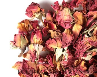 DRIED ROSE PETALS - 8 oz. - Tea Potpourri Soap Wedding Organic Herbal Craft