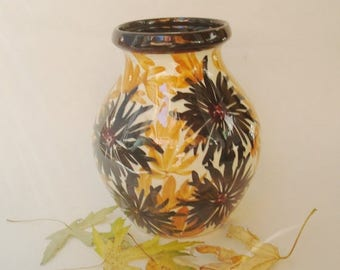 ON SALE NOW c1920s German Floral Pottery Vase