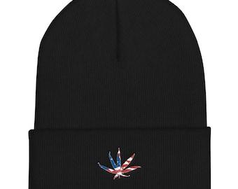 USA, Weed Beanie, weed hat, mj, mj beanie, pot knit cap, weed cap