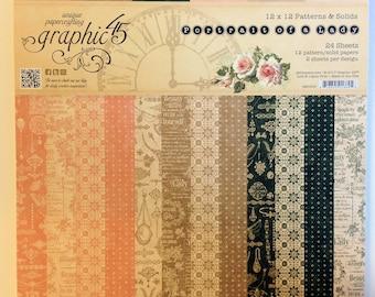 "Graphic 45 ""Portrait of a Lady"" 12"" x 12"" Patterns & Solids"