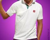 Premium Switzerland Polo Shirt Federer Poloshirt Tennis T-shirt 2018 Championship Collar Top Tournament Tee Racket Retro Flag National Mens