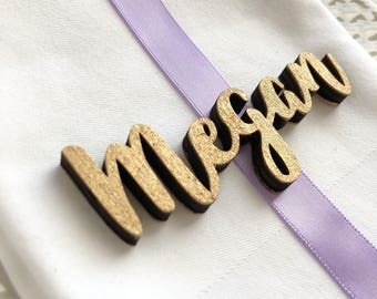 Wooden Wedding Place Names - Wooden laser cut names - Wedding Place Settings - Name Place Setting - Wedding Place Cards - Custom name
