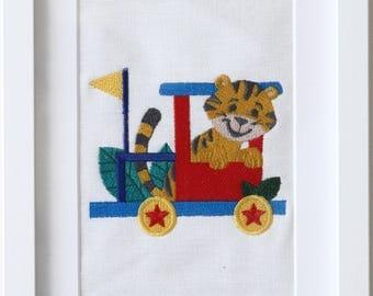Embroidered Nursery Wall Art
