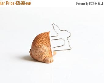 "SALE Bookmark ""Brown bunny"""