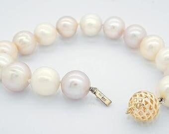 Pearl bracelet-Wedding Freshwater Pearl Bracelet-Beaded bracelet-Bridal Jewelry-Anniversary gift-Birthday present-Art deco bracelet-For her
