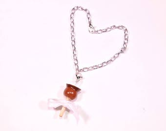 Chocolate toffee Apple bracelet