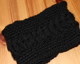 Black with 100% knitted twist Headband headband