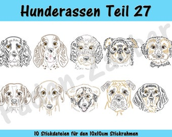 Dog breeds part 27 - embroidery-set for the border 10x10cm