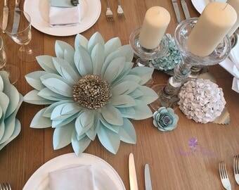 Table decoration paper flower set