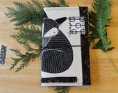 05 FOXY SOXY - Fabric Traveler's Notebook Cover